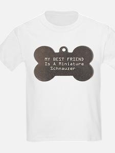 Friend Schnauzer Kids T-Shirt