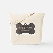 Friend Schnauzer Tote Bag
