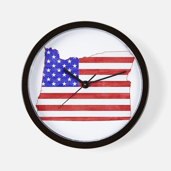 Oregon Flag Wall Clock