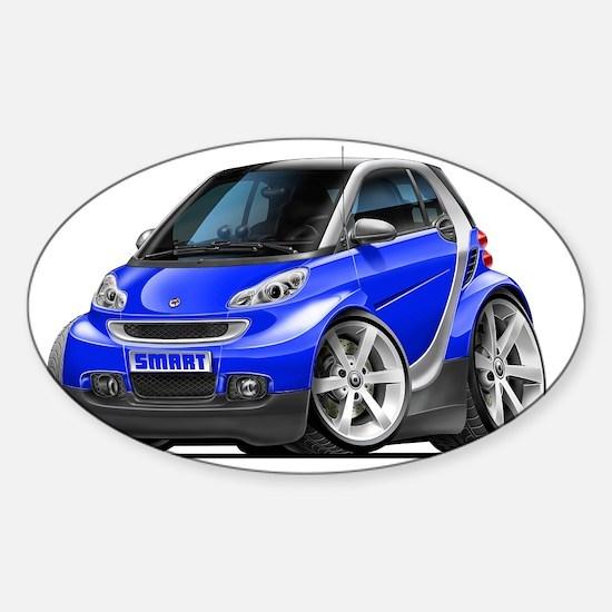 Smart Blue Car Sticker (Oval)