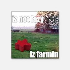 "lolmeeple farm Square Sticker 3"" x 3"""