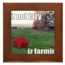lolmeeple farm Framed Tile
