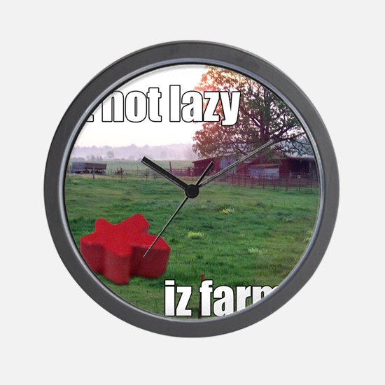 lolmeeple farm Wall Clock