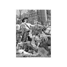 Vintage Pirates 5'x7'Area Rug