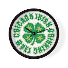 Chicago Irish Drinking Team Wall Clock