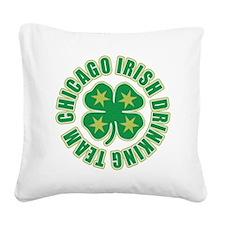 Chicago Irish Drinking Team Square Canvas Pillow