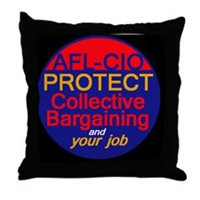 Collective Bargaining Throw Pillow