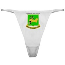 DUI-720TH MILITARY PLC BN WITH TEXT Classic Thong