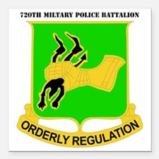 "DUI-720TH MILITARY PLC B Square Car Magnet 3"" x 3"""