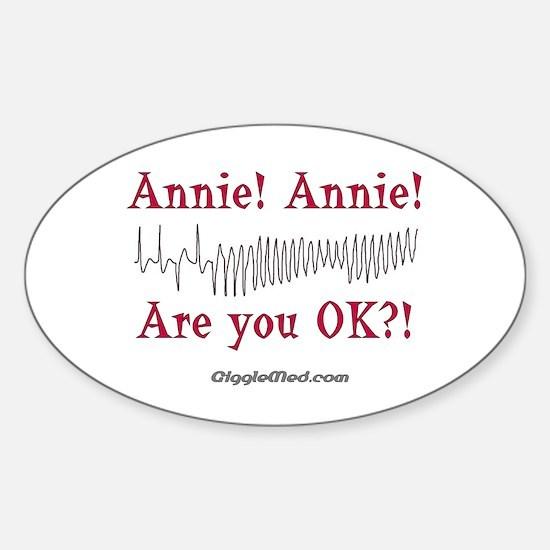 Annie! Annie! 2 Oval Decal