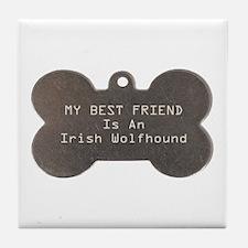 Friend Wolfhound Tile Coaster