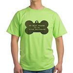 Friend Wolfhound Green T-Shirt
