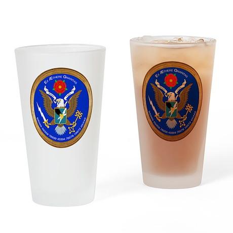 ASA_Seal_Tshirt_BW Drinking Glass