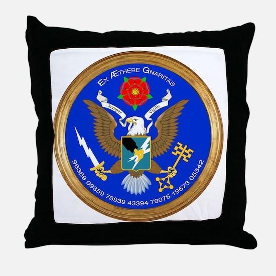 ASA_Seal_Tshirt_BW Throw Pillow