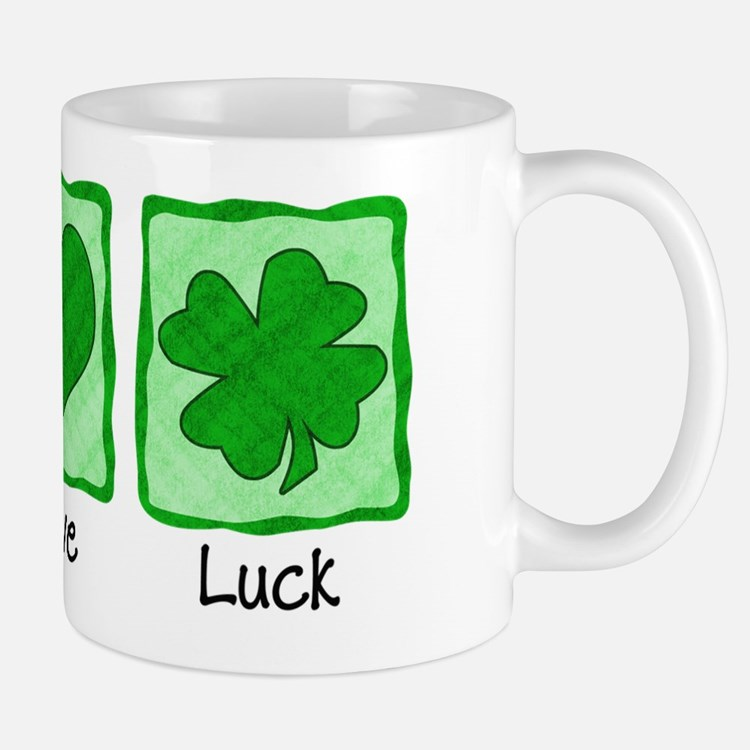 Peace Love Luck Shirt Mug