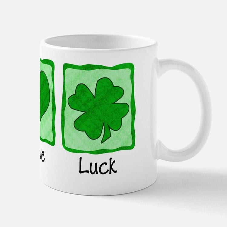 Peace Love Luck Shirt Small Small Mug