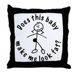 Baby Fat Stick Mom Throw Pillow