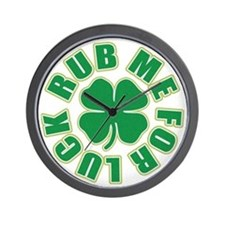 Rub Me For Luck Wall Clock