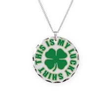 This is my Lucky Shirt Necklace Circle Charm