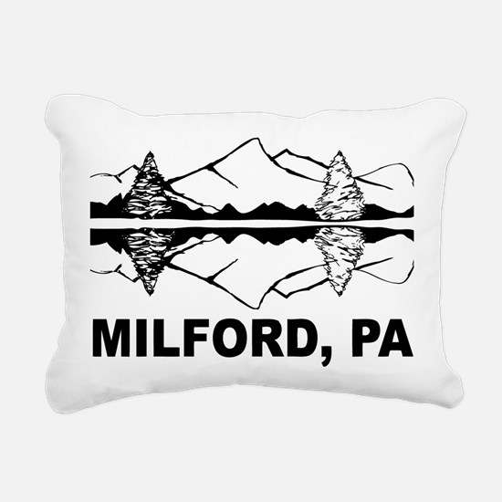 Milford, PA Rectangular Canvas Pillow