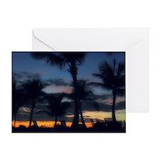 CC - POOL SUNSET Greeting Card