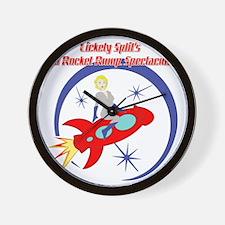 Red_Rocket1 Wall Clock
