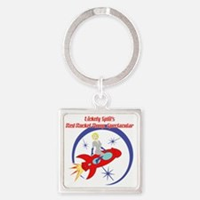 Red_Rocket1 Square Keychain