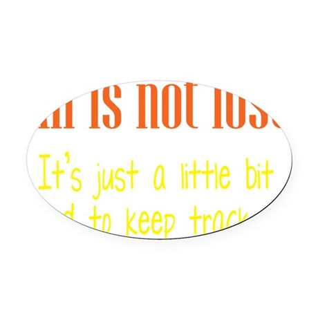 all-lost3 Oval Car Magnet