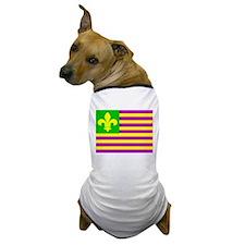 Mardi Gras Flag Dog T-Shirt