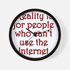 reality-internet1 Wall Clock