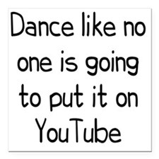 """youtube1 Square Car Magnet 3"""" x 3"""""""