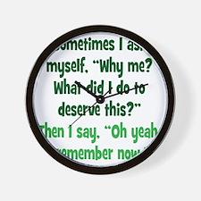 why-me2 Wall Clock
