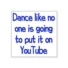 "youtube3 Square Sticker 3"" x 3"""