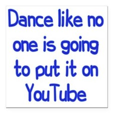 """youtube3 Square Car Magnet 3"""" x 3"""""""