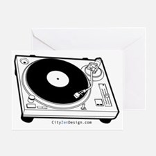 record-player_20 Greeting Card
