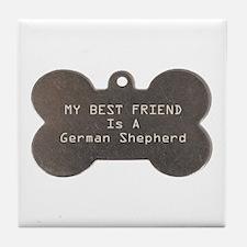 Friend Shepherd Tile Coaster