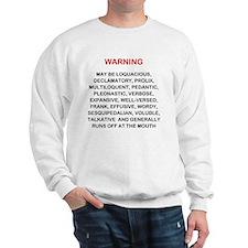 Warning new LG 2000x2249 Sweatshirt