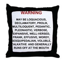 Warning new LG 2000x2249 Throw Pillow
