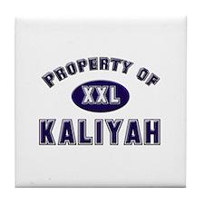 Property of kaliyah Tile Coaster