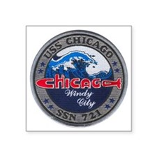 "chicago patch Square Sticker 3"" x 3"""