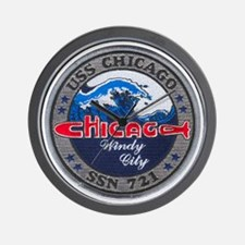 chicago patch Wall Clock