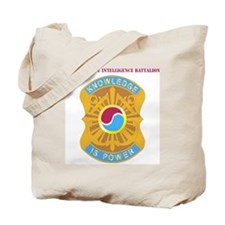 DUI-163 MIL INTEL BN  WITH TEXT Tote Bag