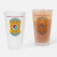 DUI-163 MIL INTEL BN  WITH TEXT Drinking Glass