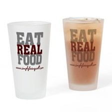 Eat REAL Food 200 Drinking Glass