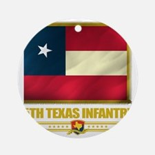 5th Texas Infantry (flag 10)2 Round Ornament