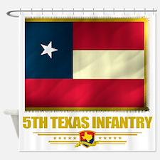 5th Texas Infantry (flag 10)2 Shower Curtain