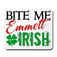 bite me emmett irish Mousepad