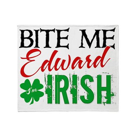 bite me edward irish Throw Blanket