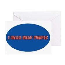 i hear deaf deaf people decal sticke Greeting Card
