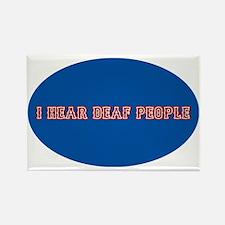 i hear deaf deaf people decal sti Rectangle Magnet